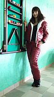 """Теплый спортивный костюм """"Пантера"""" на синтепоне  красный, 42"""