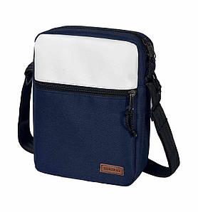 Городская сумка через плечо мессенджер Surikat Tablet синяя 28х22х6 см.