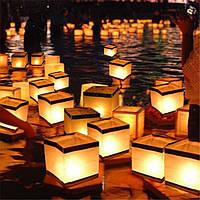 Водяной плавающий держатель свечи Водонепроницаемы Квадратный подсвечник Фонарь,желающий свечи Свеча Палка
