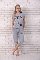 Комплект женский футболка и бриджи