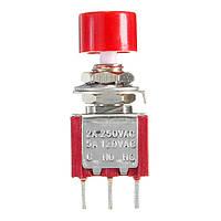 3pin мгновенная кнопка включения / выключения LED переключить тумблер 2a 250V AC / 5a 120В