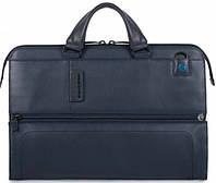 Мужская кожаная сумка с отделением для ноутбука Piquadro PULSE/N.Blue, CA4025P15_BLU3 синий