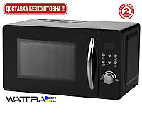 Микроволновая печь GRUNHELM 20UX71-L (черная) 20л, 800 вт, кнопочная (Грюнхельм)