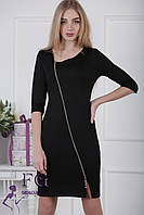 """Платье на молнии """"Беатрис"""". Распродажа модели черный, 42"""