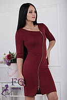 "Платье на молнии ""Беатрис"". Распродажа модели бордо, 44"