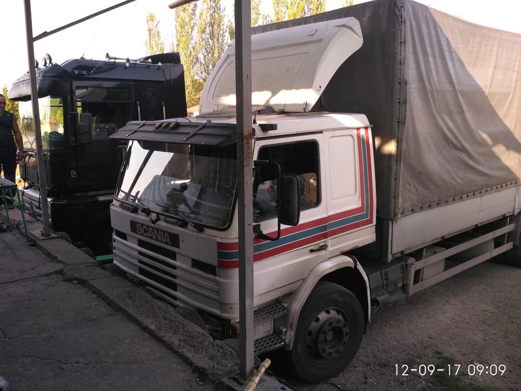 Изготовление и замена лобового стекла на грузовик Scania 3 в Никополе