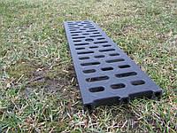 Водоотводная решетка черная пластиковая ПП, фото 1