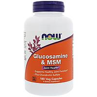 Глюкозамин, Now Foods, Glucosamine & MSM, 180 vcaps