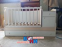 Кровать-трансформер Бони Малыш 3 в 1 (ТМ-09) Белый-ваниль