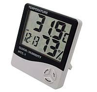 Электронные часы-термометр, гигрометр 3 в 1 HTC-1
