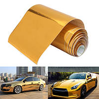 10cmx150cm золотой винил оберточная пленка автомобиля стикер переводная картинка воздушный пузырь бесплатно