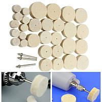 33шт Шерстяная шлифовальная машинка для шлифования для Дремель Rotary Инструмент