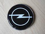 Емблема z Opel наклейка на авто 75х75мм Опель на штирях пластикова з силіконовою вставкою, фото 3