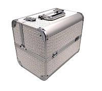 Чемодан металлический раздвижной розовый 740-1 YRE, чемодан для визажа