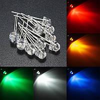 10pcs 5мм 5 цвет воды ясно соломенная шляпа LED диоды ассортимент поделки свет