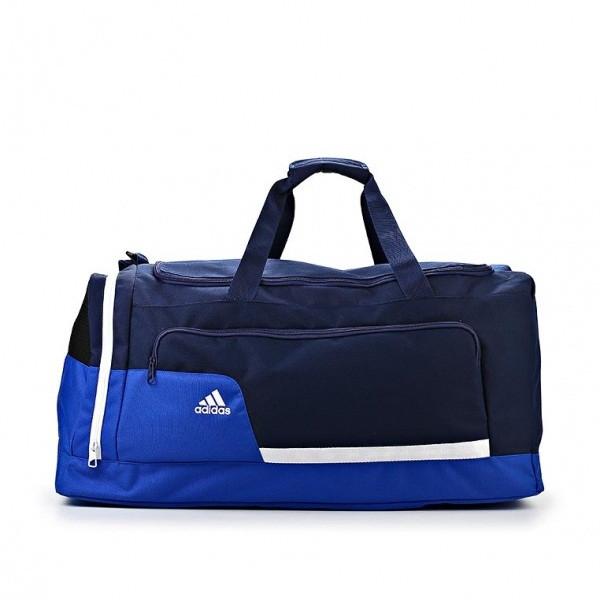 Сумка дорожная спортивная adidas Tiro Z35660 (синяя с черным, водонепроницаемый материал, 75 л., бренд адидас)