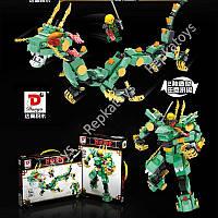 Конструктор Ninja 2 в 1 Робот+дракон, 293 детали, в коробке (ОПТОМ) 954