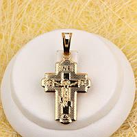 010-0762 - Позолоченный кулон-крест с распятием