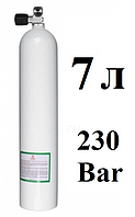 Маленький баллон для дайвинга BTS; 7 л; 230 Bar
