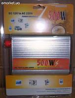 Преобразователь авто инвертор 24V-220V  500W  USB