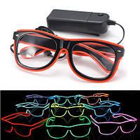 Эль-неоновый провод LED свет затвора фасонные очки для рейв партии костюма