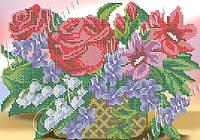"""Схема для часткової вишивки бісером """"Корзина квітів"""""""
