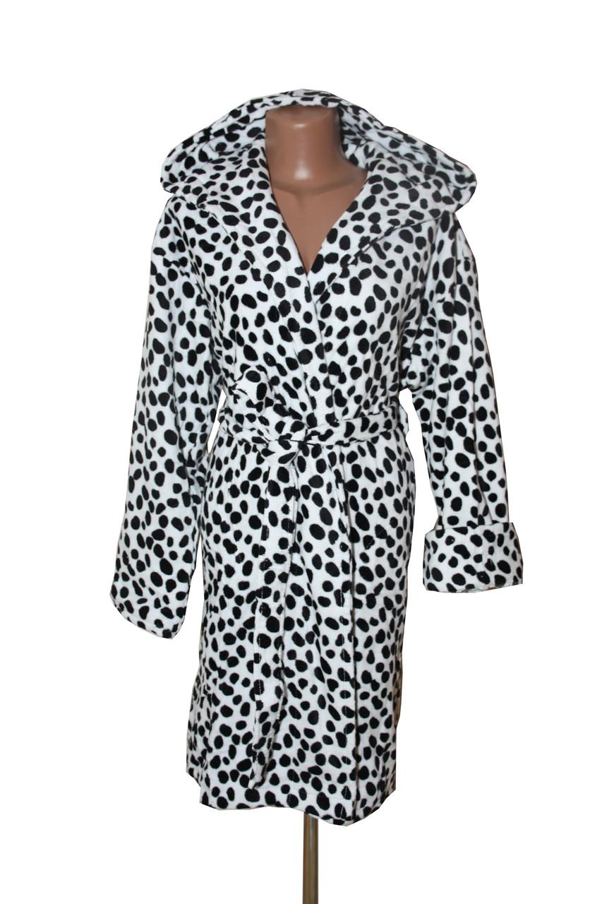 Далматинец женский махровый длинный халат