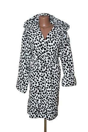 Далматинец женский махровый длинный халат , фото 2