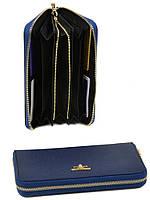 Женский кожаный кошелек WF-39 blue