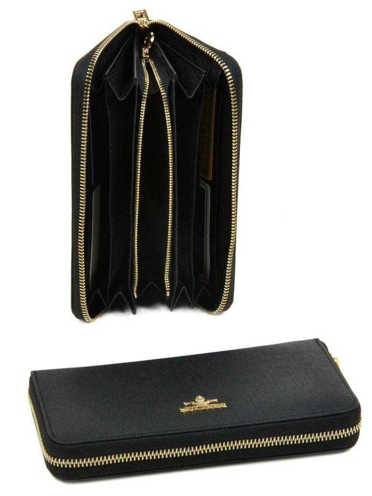 Женский кожаный кошелек WF-39 black
