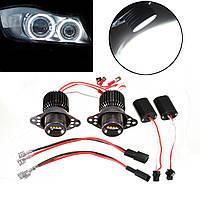 LED Белый ангел глаз 20w галогена гало лампочки для BMW E90 E91 2009-2011 гг
