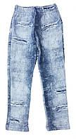 Теплые лосины для девочки под рваные джинсы