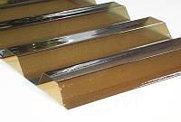 Профилированный монолитный поликарбонат ТМ Borrex 0,8мм. трапеция янтарный
