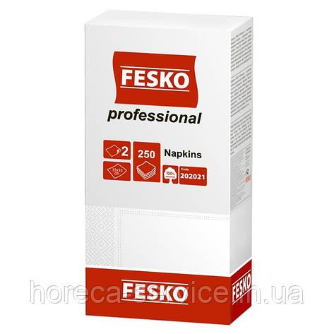 FESKO Professional 250 шт. Белая 1/4 сложения 2-х слойн., фото 2