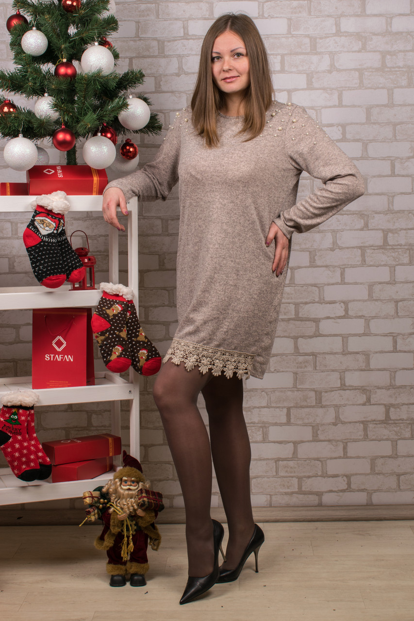 Женское теплое платье. RBOSSI P31. Размер 52-54.