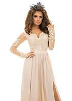 Женское вечернее платье Макси с разрезом р.42,44,46 - 3 цвета
