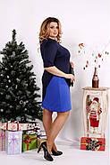 Женское трикотажное платье 0686 / размер 42-74 цвет черный+синий, фото 2