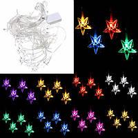 Мульти 3.5м 100smd пятиконечная звезда LED строка занавес огни Рождество свадебный декор 110В