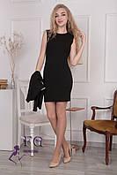 """Костюм """"Эсмик"""": платье+ жакет черный, 48"""