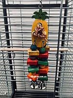 Деревянная игрушка для попугаев «Ананас» (маленький), фото 1