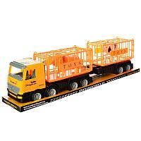 Трейлер 98-91 с прицепом, инерционный, 62 см, животные 2 шт