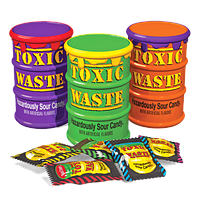 Кислые конфеты Токсик Вейст (Toxic Waste  Color Drums) цветные