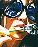 AS0080 Набор-раскраска по номерам Лето