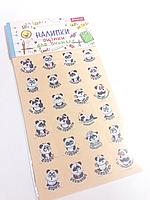 """Наклейки оценки  """"Панда"""" 72шт."""
