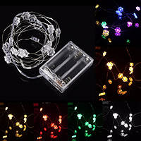 2m 18 LED шестигранной безлепестковый цветок батарейках Рождество строка огни фея партия свадебный декор