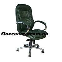 Кресло для руководителя ВАЛЕНСИЯ HB кожа комбинированная авокадо