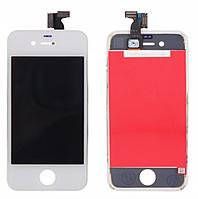 Дисплей iPhone 4 с сенсором (тачскрином) и рамкой, белый, оригинал