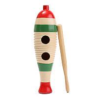 Деревянные гуиро рыба в форме малыша детская музыкальная игрушка подарок ударный инструмент