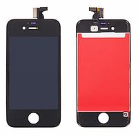 Дисплей iPhone 4s с сенсором (тачскрином) и рамкой, черный, копия