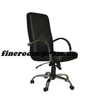Кресло MANAGER steel chrome comfort+anyfix ECO-30 черный